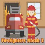Brandweerlieden Match 3 spel