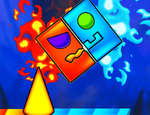 Fire And Water Geometry Dash game