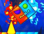 Пожар и водна геометрия Dash игра