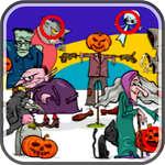 Finden Sie 5 Unterschiede Halloween Spiel