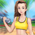 Les filles de fitness s'habillent jeu