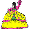 Пухкави рокля момиче оцветяване игра