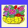 Fleurs dans la coloration de la vase jeu