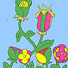 Flowers in the farm coloring game