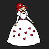 Bruid bloemenmeisje kleurplaten spel
