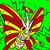 Flying fly in woods coloring game