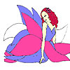 Flower fairy coloring game