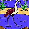 Flamingo nehir boyama oyunu