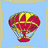 Flying balloon coloring game