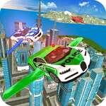 Simulador de coches de policía volador juego