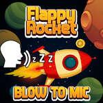 Flappy ракета играе с blowing към Mic