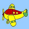 Négy üléses repülőgépek színező játék