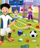 Terenul de fotbal de curăţare joc