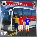 Футболни играчи автобус транспорт симулация игра