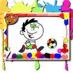 Tiempo de coloración del fútbol juego