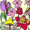 Flores frescas para colorear juego