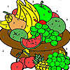 Fruit on a plate coloring game