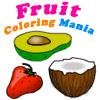 Frutas para colorear manía juego