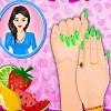 Meyve moda tırnak sanat oyunu
