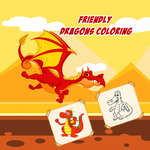 Friendly Dragons Coloring game