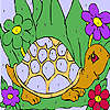 Funny sea turtle coloring game