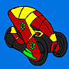 Futuristic flower car coloring game