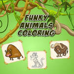 Funky Animals Coloring game