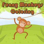 Funny Monkeys Coloring game