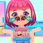 Cirugía de nariz divertida juego