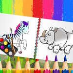 Vicces állatok kifestőkönyv játék