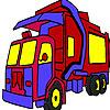 Боклукчийски камион оцветяване игра