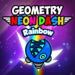 Geometry Neon Dash Rainbow game