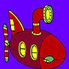 Гигантски океан подводница оцветяване игра