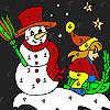 игра Девушка Зимняя ночь раскраски
