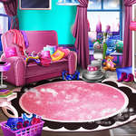 Lányos ház takarítás játék