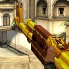 Gold AK 47 game