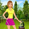 Golf Spieler Girl