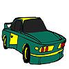 Zöld gyors autó színező játék