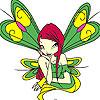 Groene gevleugelde fairy kleuren spel
