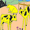 Grazing cows coloring game