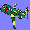 Groene vliegen vliegtuig kleuren spel