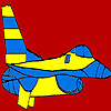 Great blue airplane coloring game