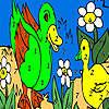 игра Зеленые утки в озеро окраски