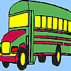 Grand school bus coloring game