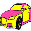 Grand pink car coloring game
