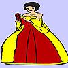 Glückliche Frau Blume Färbung Spiel
