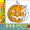 Halloween coloring pages game