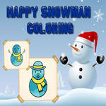 Happy Snowman Coloring game