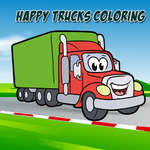 Happy Trucks Coloring juego