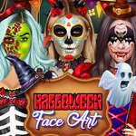 Halloween-Gesichtskunst Spiel